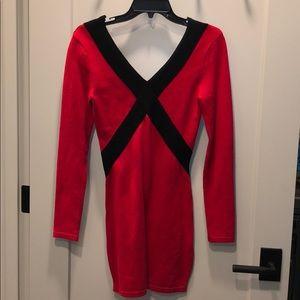 Red & black Bebe dress size XS